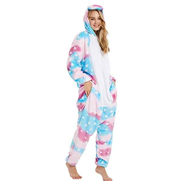 Плюшевые пижамы Единорог Небесный небесный.jpg