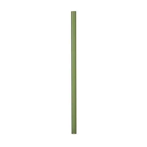 Трубочка стеклянная прямая 20 см зеленая