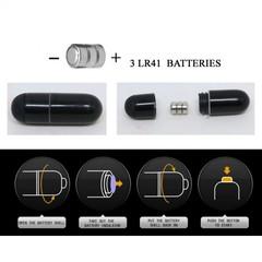 Чёрная насадка с клиторальным вибростимулятором и закрытой головкой - 14 см.