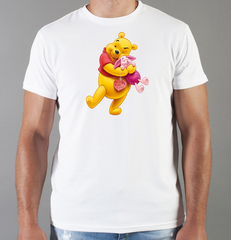 Футболка с принтом мультфильма Винни-Пух, Пятачок (Winnie the Pooh) белая 0027