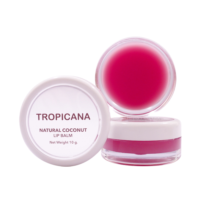 TROPICANA OIL Бальзам для губ с Гранатом, TROPICANA OIL, Natural Coconut Lip Balm, 10 мл natural-coconut-lip-balm-pomeganate-joyful10g.jpg