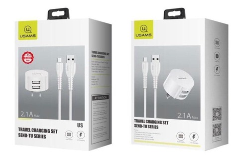 Сетевая зарядка Usams Send-TU Set 2.1A /white/ T20