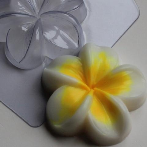 Пластиковая форма для шоколада жен. ЦВЕТОК ПЛЮМЕРИЯ (диаметр 80мм)