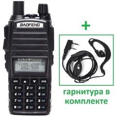 Рация Baofeng UV-82 черная 8 Ватт (c гарнитурой) 2 режима