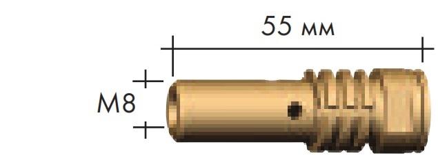 Вставка (свеча) для наконечника Tr 18x4/M8/55 (RF 45) (016.D025)