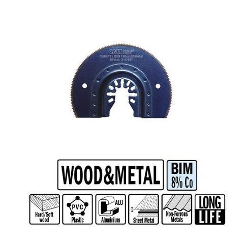 Сегментное пильное полотно 87 мм для древесины и металла