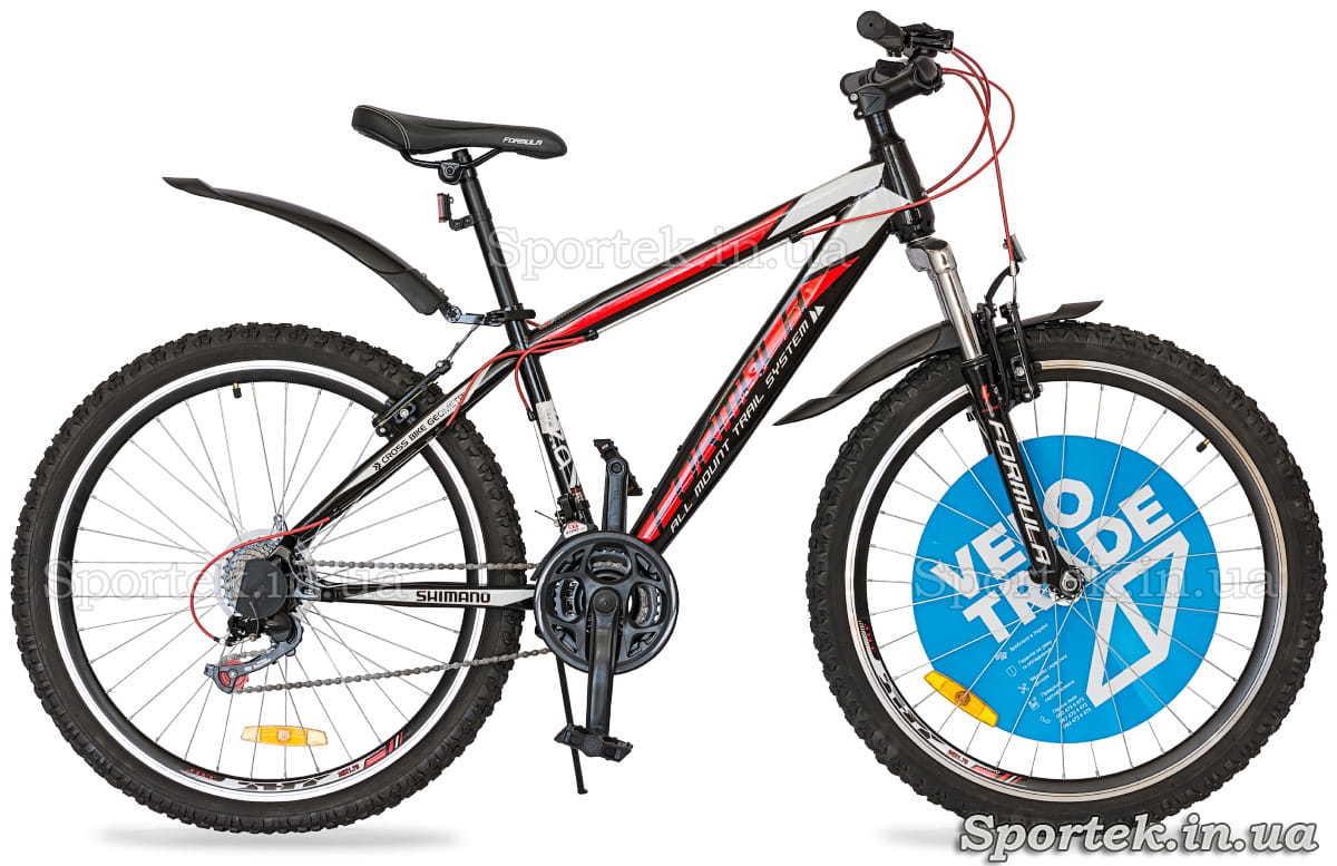 Міський велосипед Formula Nevada чорно-червоно-білий