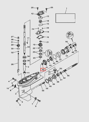 Шайба шестерни для лодочного мотора T40 Sea-PRO (23-42)