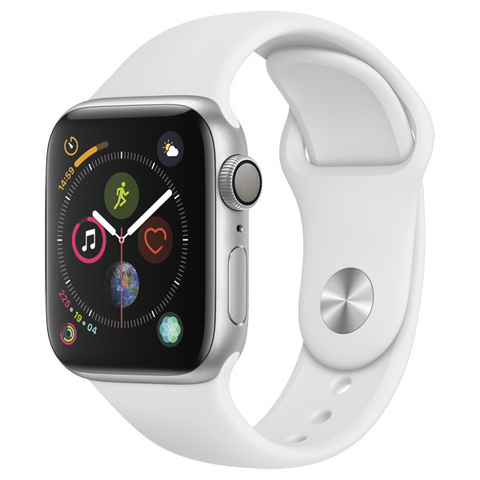 Watch S4 Cellular 40mm Silver Al/White Sport Band