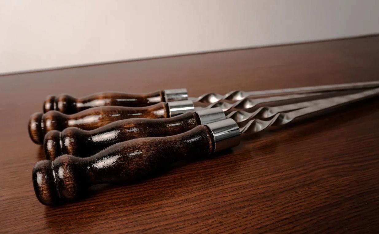Шампуры с деревянной ручкой Шампур с деревянной ручкой ШК 3мм (ширина 12мм) aN23MeklMec.jpg