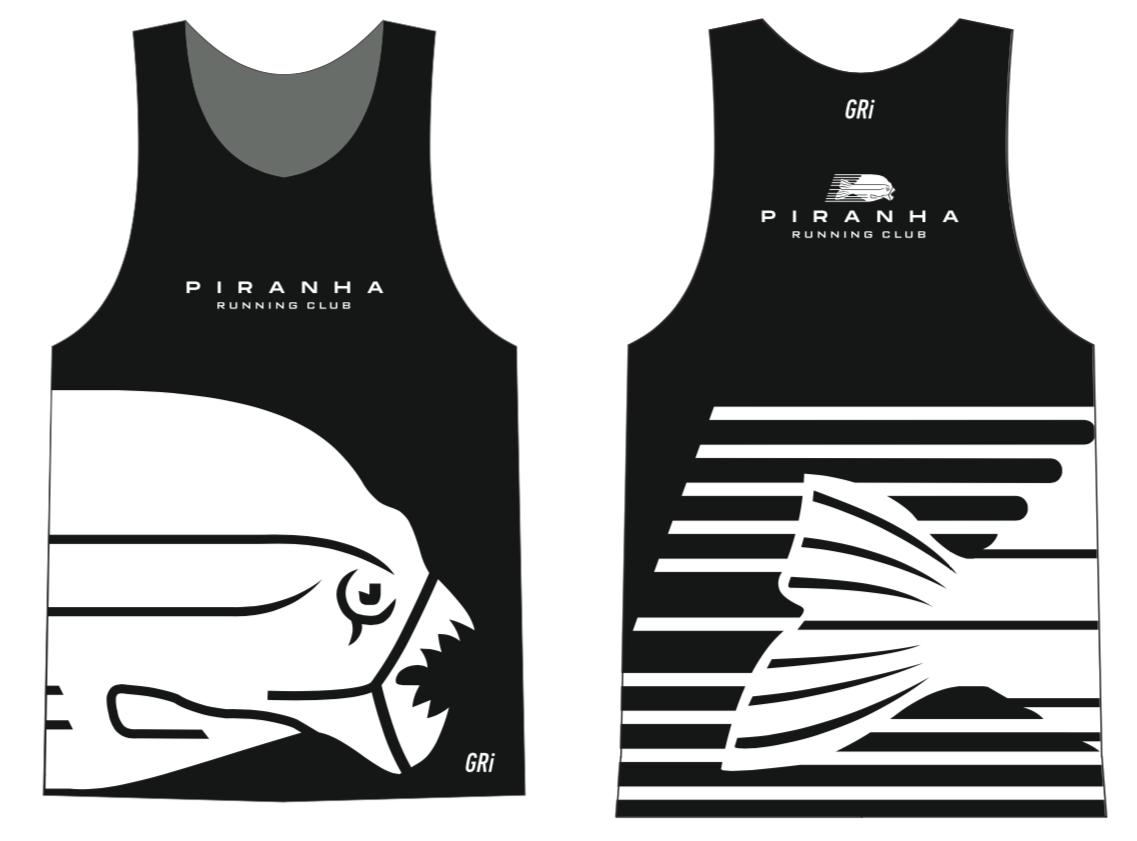 Майка клубная GRi Piranha, черная, мужская
