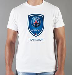 Футболка с принтом FC Paris Saint-Germain (ФК Пари Сен-Жермен) белая 009