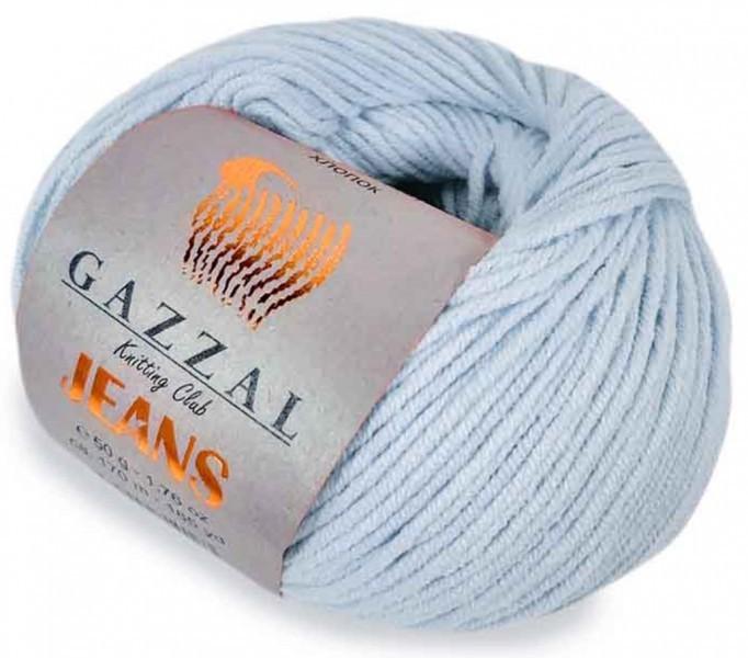 Пряжа Gazzal Jeans 1109 голубой