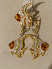 Арована  (кольцо + серьги из серебра)