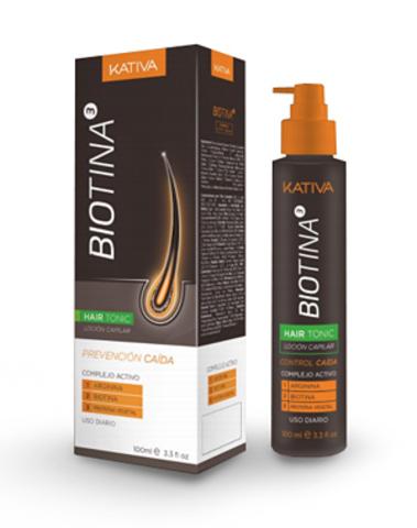 Тоник против выпадения волос с биотином, Kativa Biotina, 100мл