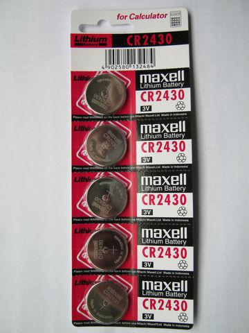 Батарейки Maxell CR 2430 5 BL
