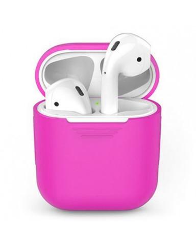 Чехол на airpods силиконовый (розовый)
