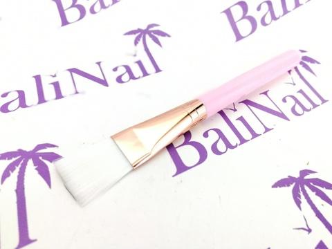 Кисть косметическая для масок и пилинга (нежно-розовая) 16 см
