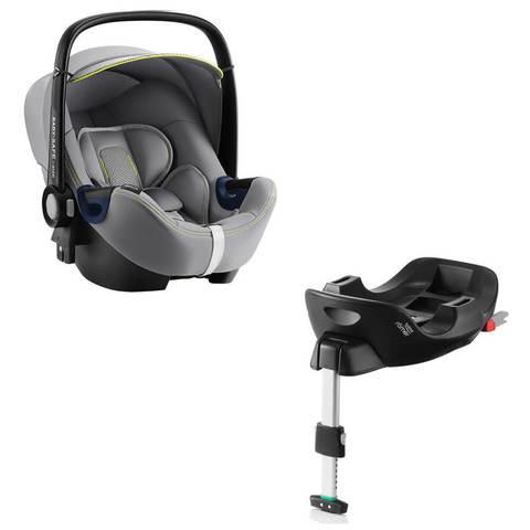 Автокресло Britax Roemer Baby-Safe2 i-Size Cool Flow Silver + Base Flex Isofix