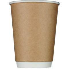 Стакан одноразовый Стандарт бумажный коричневый 300 мл 25 штук в упаковке