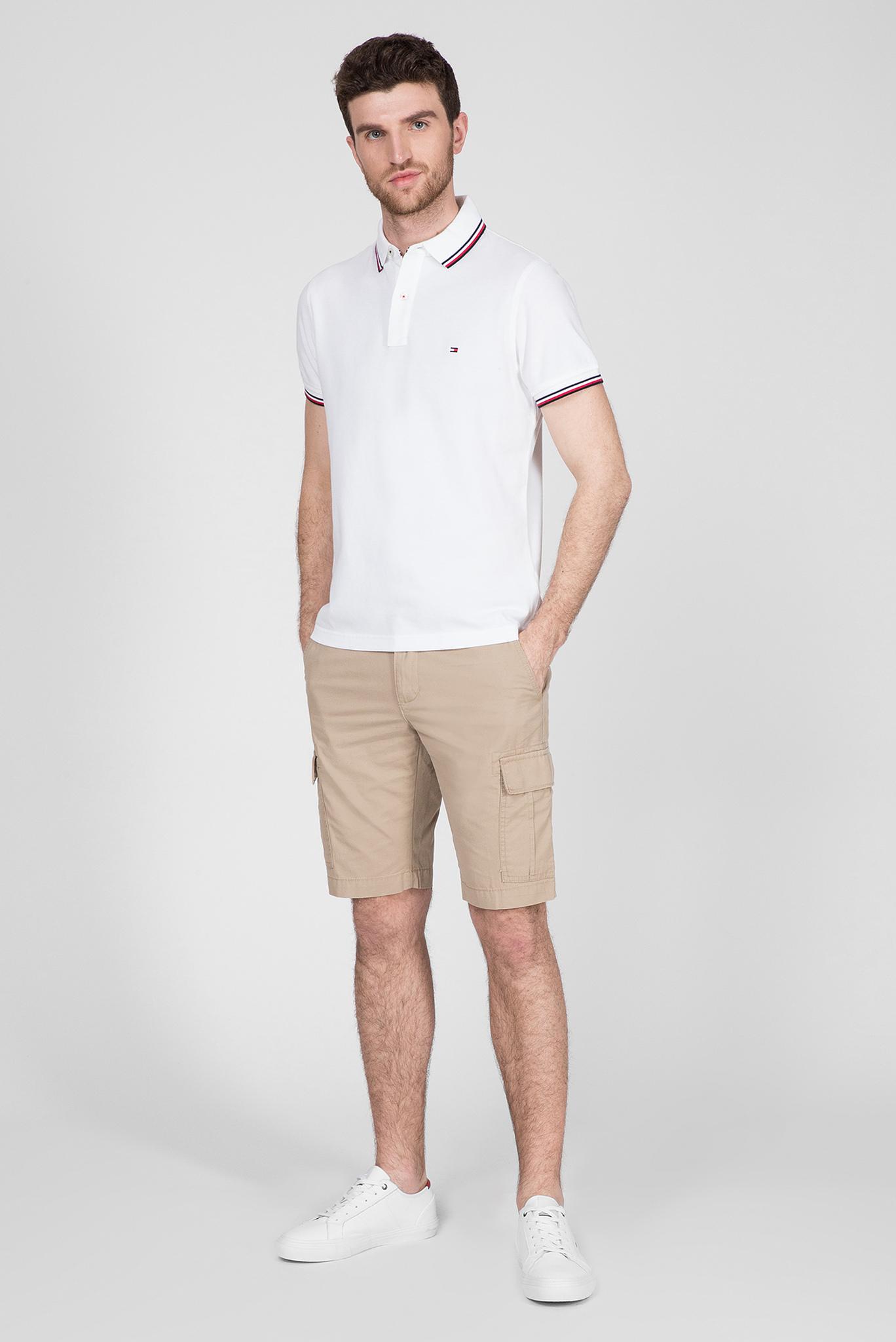 Мужское белое поло TIPPED SLIM Tommy Hilfiger