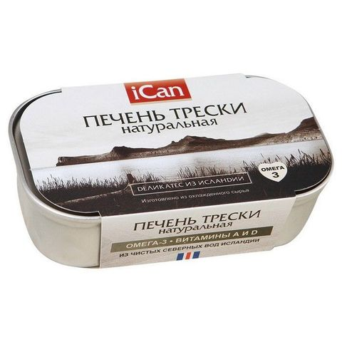 Печень трески натуральная , 120г