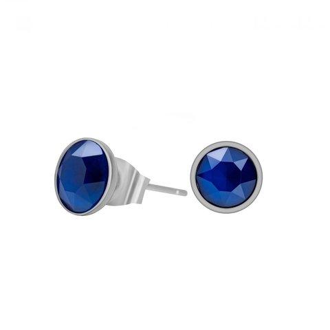 Пусеты Crystal Royal Blue SWE298 CRB S