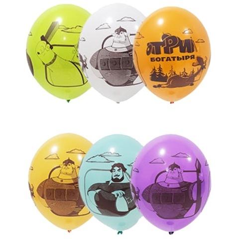Воздушные шары с рисунком Три богатыря