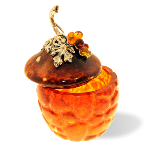 Шкатулка из янтаря «Виноград»