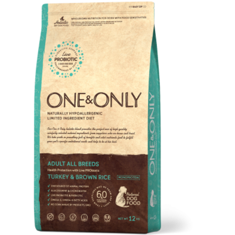 One&Only Turkey & Brown Rice Adult All Breeds - 12 кг