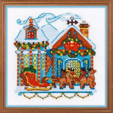 Набор для вышивания крестом «Домик с санями» (1661)