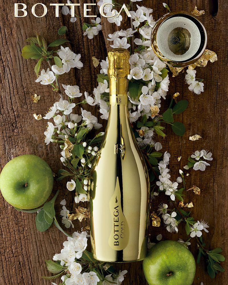 Вино Bottega Gold Белое Игристое Просекко Брют 11%, 0,75л.