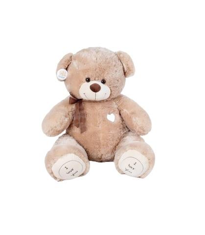 Игрушка Плюшевый медведь Феликс I Love You (120 см). Кофейный