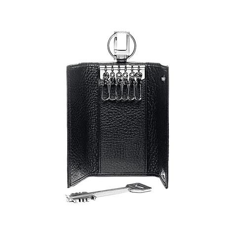 Ключница Piquadro Modus, черная, 6х12х2 см