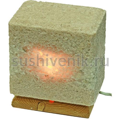 Лампа из Крымской Розовой соли на подставке