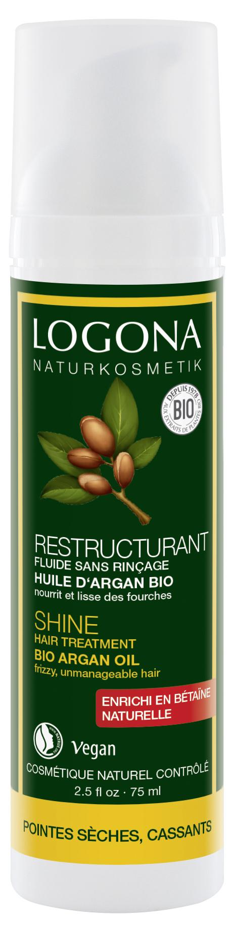 LOGONA Сыворотка для интенсивного воcстановления блеска волос с БИО -Аргановым маслом
