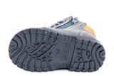 Демисезонные ботинки для мальчиков Котофей 152113-35 из натуральной кожи на молнии цвет серо-зеленый. Изображение 2 из 5.
