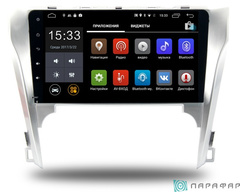 Штатная магнитола для Toyota Camry V50 на Android 6.0 Parafar PF131Lite