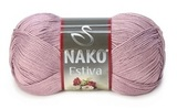 Пряжа Nako Estiva 10215 пыльная роза