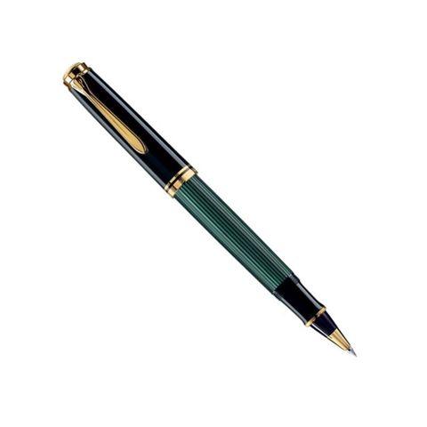 Ручка роллер Pelikan Souveraen R 400 (PL997494) черный/зеленый M черные чернила подар.кор.