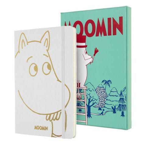 Блокнот Moleskine Limited Moomin LEMOOQP060CLT 130х210мм 192стр. линейка, белый, подарочная коробка