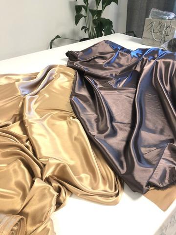 Ткань  атласная,  шоколад