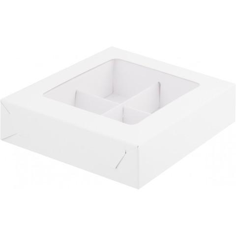 Коробка для конфет (на 4шт),12,5*12,5*3,5см
