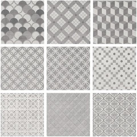 Керамогранит KERAMA MARAZZI Карнаби-Стрит 200х200 орнамент серый SG1576N