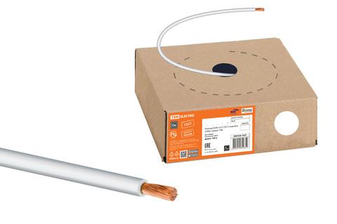 Провод ПуГВ 1х2,5 ГОСТ в коробке (100м), белый TDM