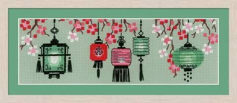 Набор для вышивания крестом «Китайские фонарики» (1707)