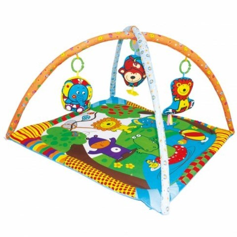 Развивающий коврик Biba Toys Мои друзья из джунглей JF124
