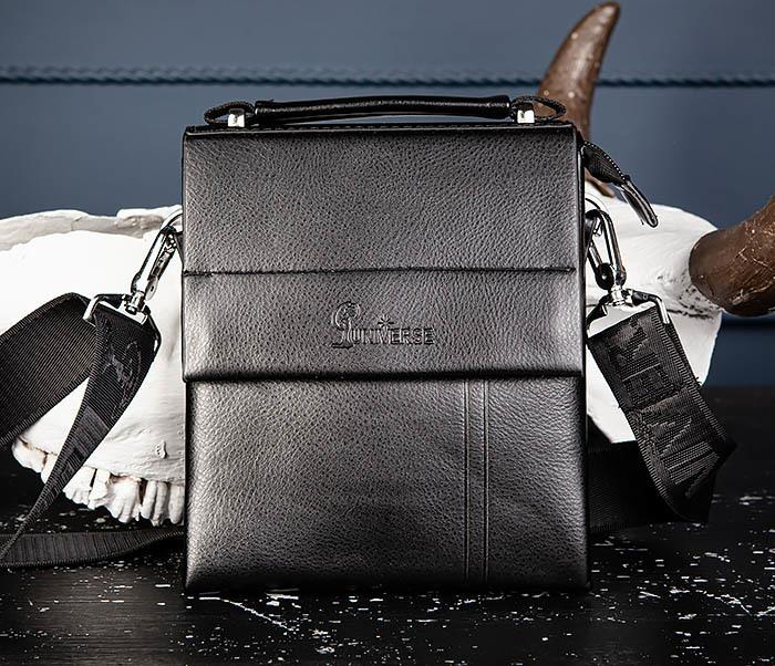 BAG560-1-3 Мужская кожаная сумочка с ручкой и ремнем фото 03