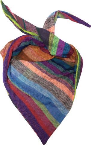 Косынка - шарф бактус с полосками