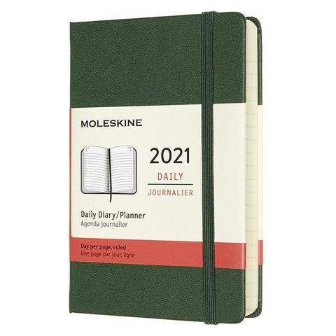 Ежедневник Moleskine Classic Pocket 90x140мм 400стр. зеленый